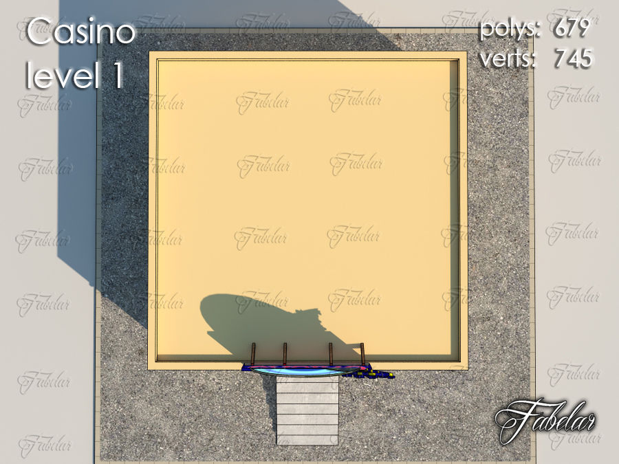Poziom kasyna 1 royalty-free 3d model - Preview no. 4