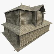 고대 통나무 집 3d model