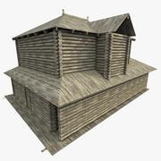 Antica casa di tronchi 3d model