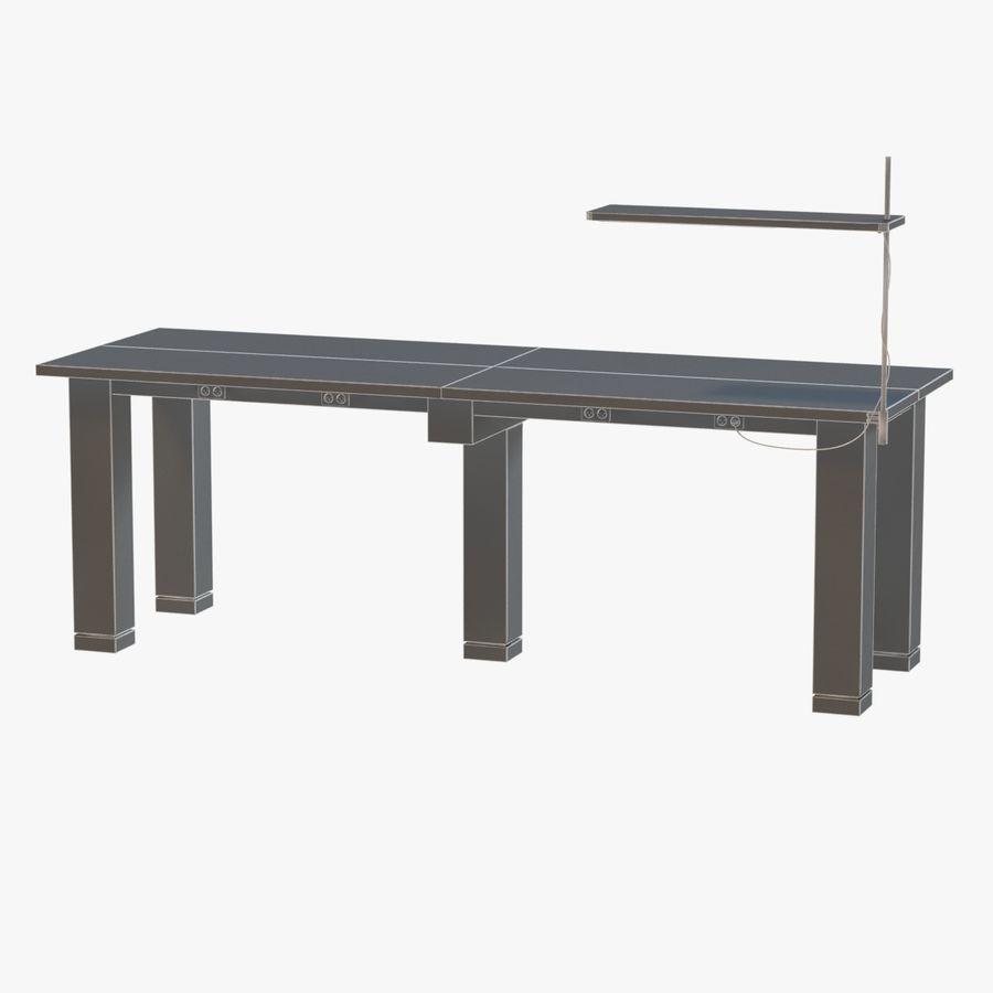 Современный деревянный стол с лампой royalty-free 3d model - Preview no. 7
