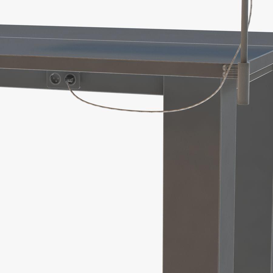 Современный деревянный стол с лампой royalty-free 3d model - Preview no. 8