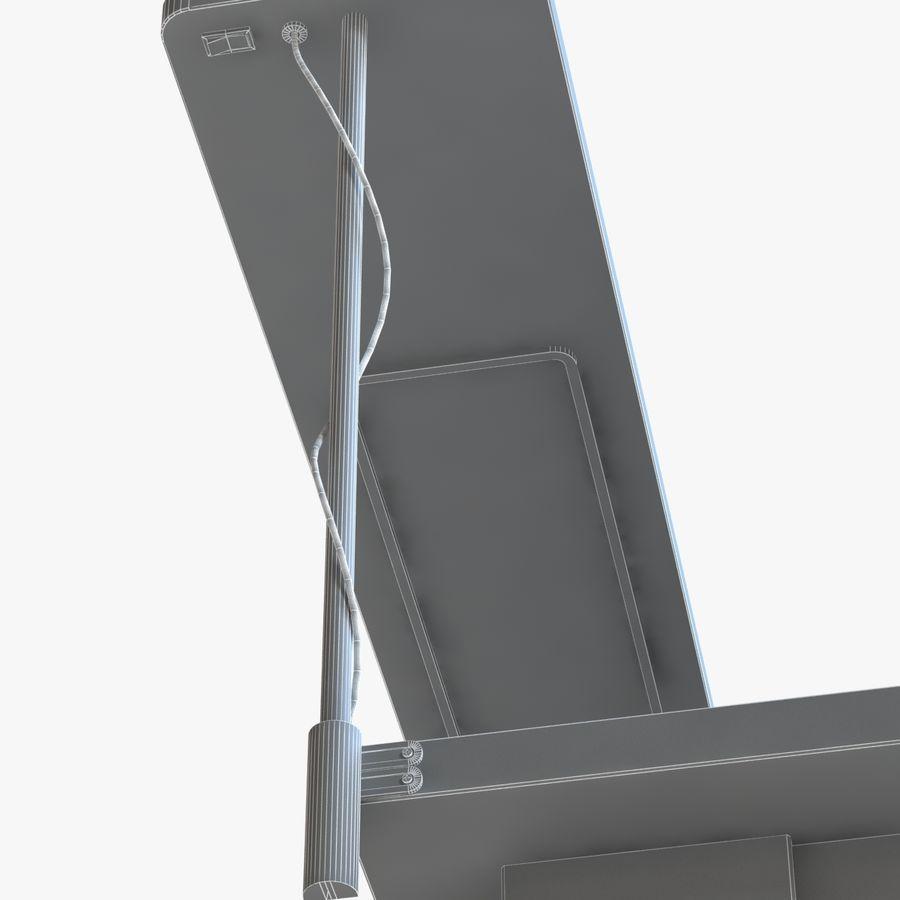 Современный деревянный стол с лампой royalty-free 3d model - Preview no. 6