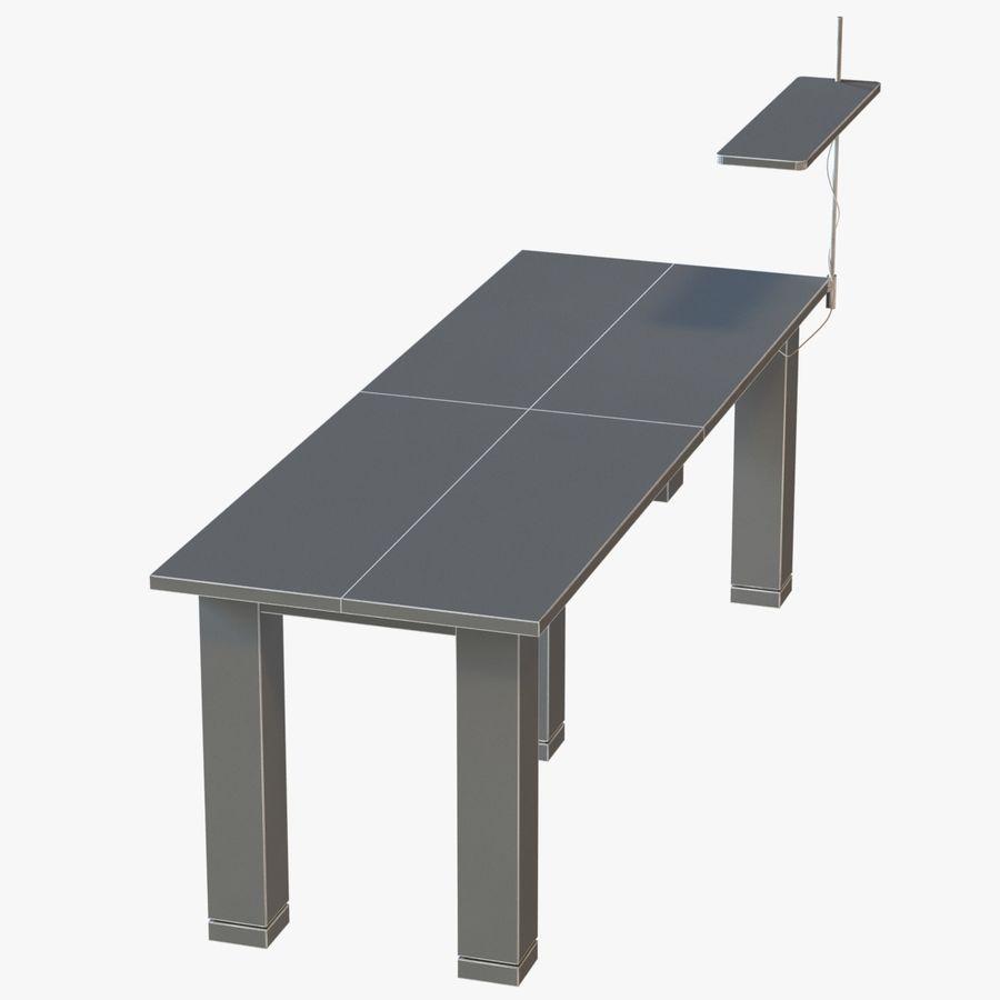Современный деревянный стол с лампой royalty-free 3d model - Preview no. 9