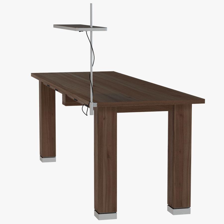 Современный деревянный стол с лампой royalty-free 3d model - Preview no. 2