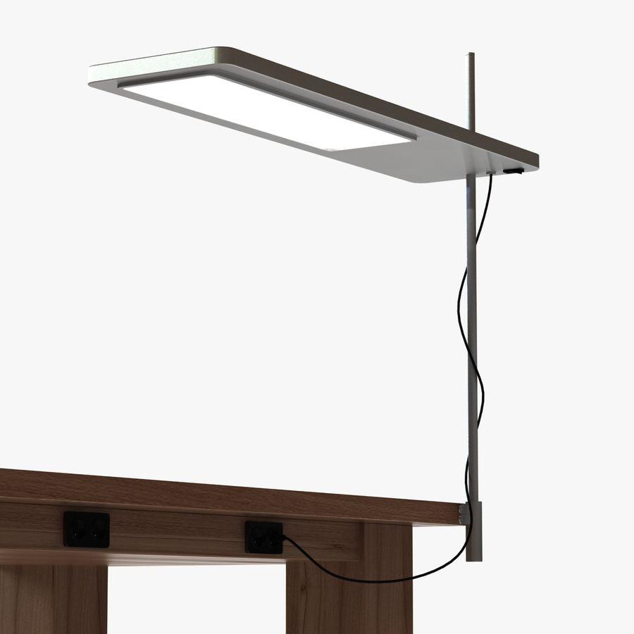 Современный деревянный стол с лампой royalty-free 3d model - Preview no. 3