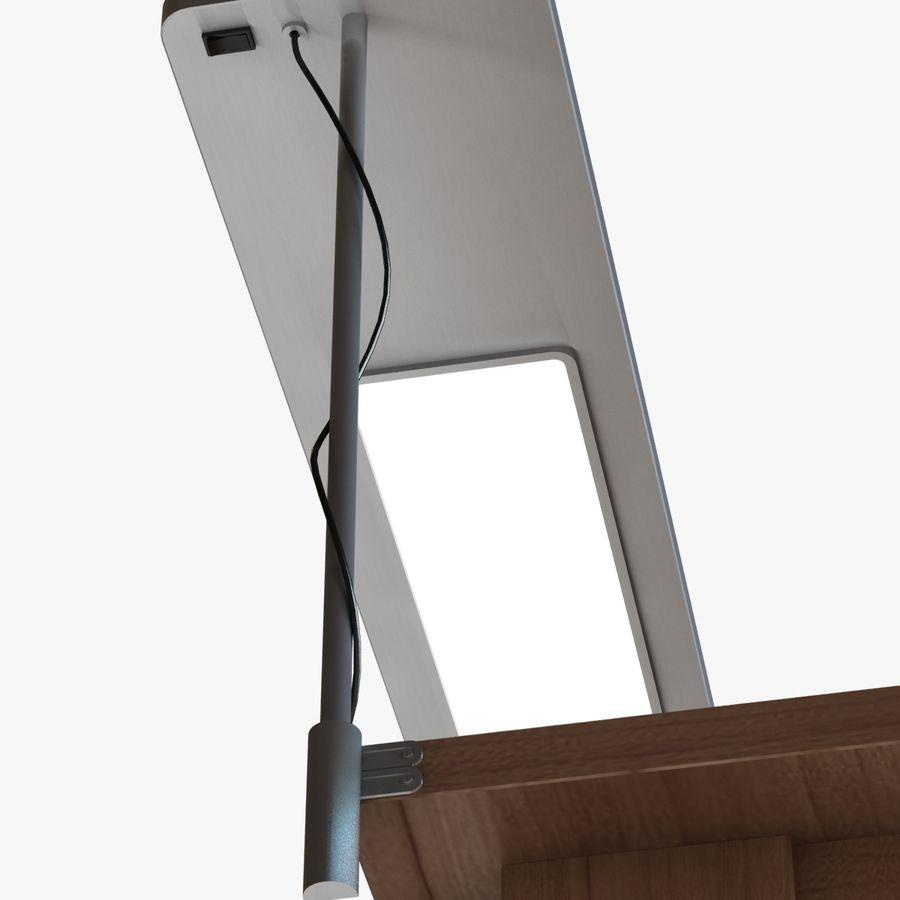 Современный деревянный стол с лампой royalty-free 3d model - Preview no. 5
