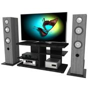 Домашняя видео система 3d model