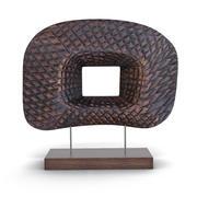 木桌装饰 3d model