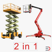 Scissor Lifts Collection 3d model