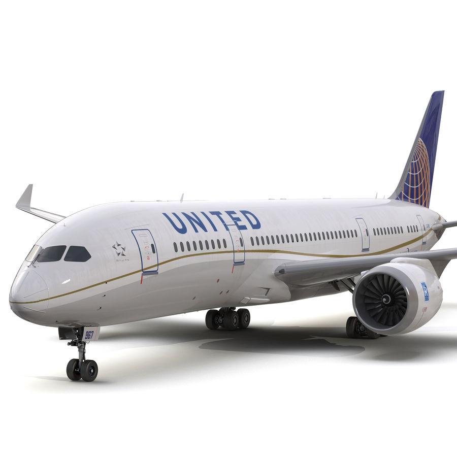 Boeing 787-3 Dreamliner United Airlines 3D Model $149 - .ma .max .c4d .obj  .fbx .3ds - Free3D