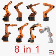 Collezione di modelli 3D truccati di robot Kuka 3 3d model