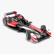 Formula E Yarış Arabası Mahindra Arma 3D Modeli 3d model
