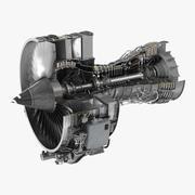 Turbofan Aircraft Engine CFM International CFM56 Sectioned 3d model