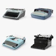 Vintage Typewriter Collection 3d model