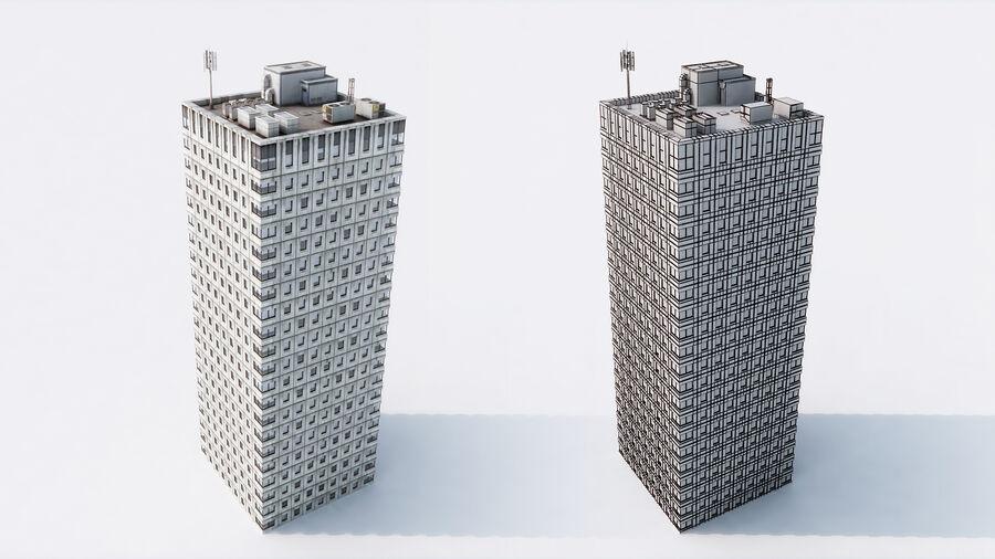 都市の建物 royalty-free 3d model - Preview no. 10