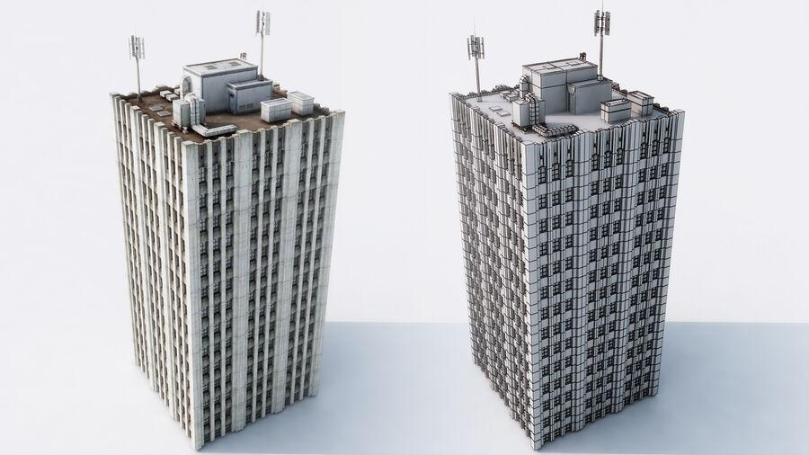 都市の建物 royalty-free 3d model - Preview no. 9