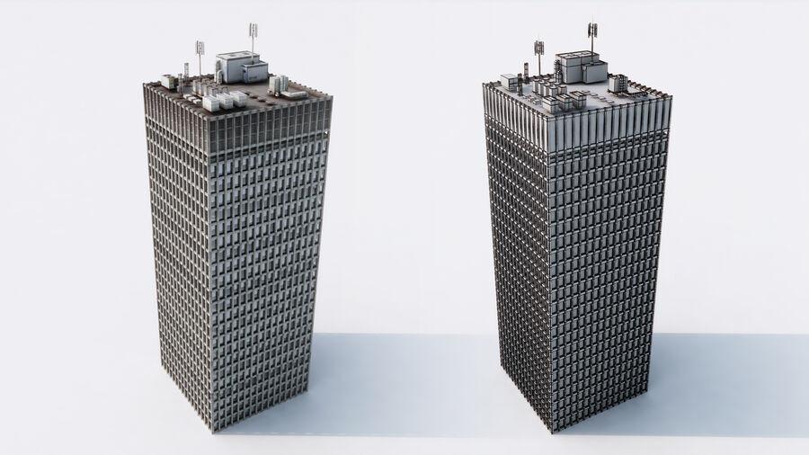 都市の建物 royalty-free 3d model - Preview no. 6