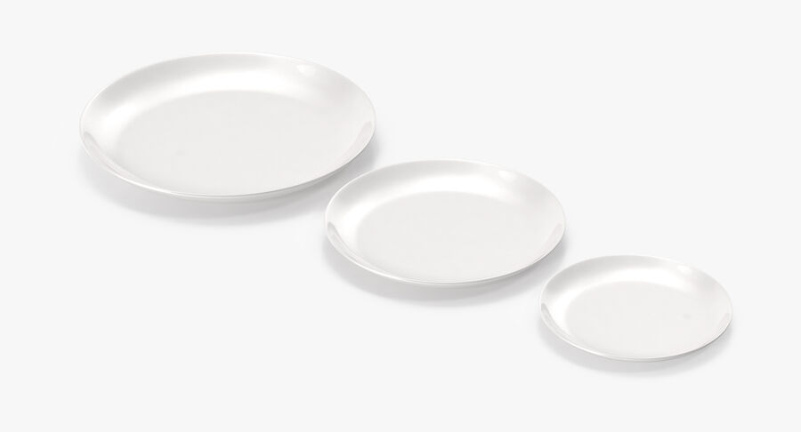 Serving Plates royalty-free 3d model - Preview no. 17