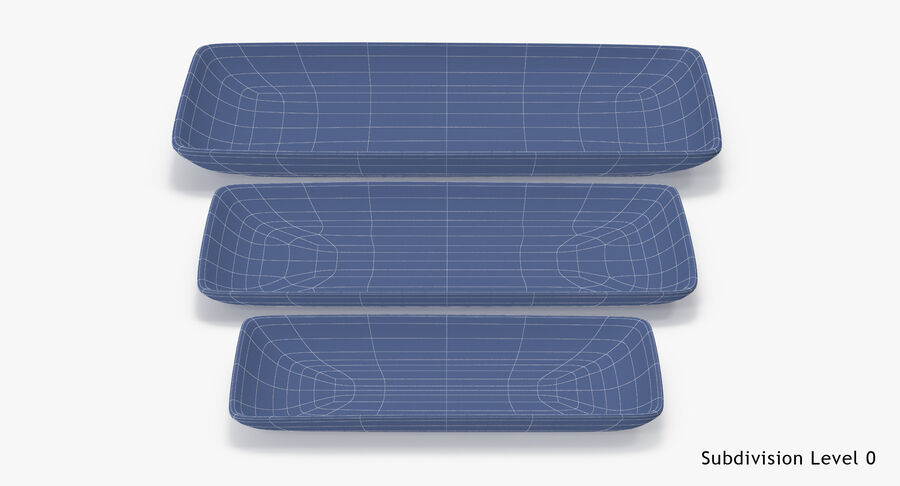 Serving Plates royalty-free 3d model - Preview no. 114
