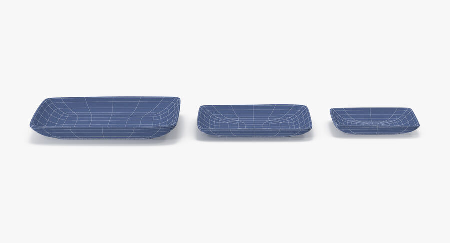 Serving Plates royalty-free 3d model - Preview no. 127