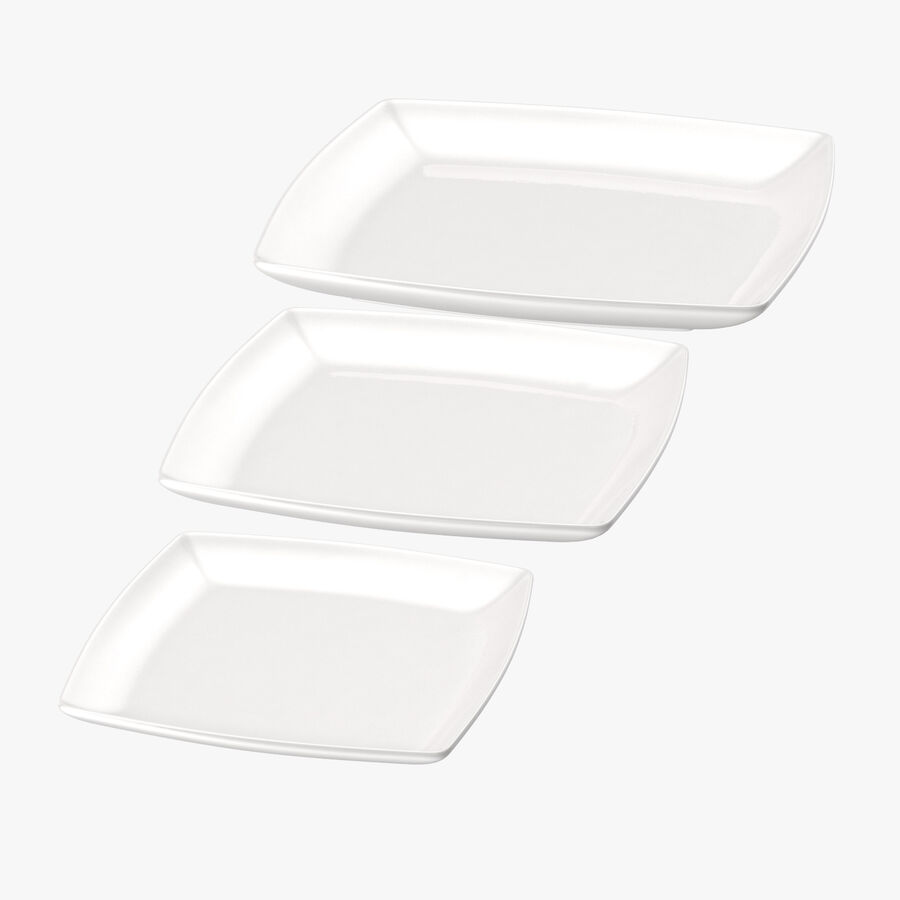 Serving Plates royalty-free 3d model - Preview no. 6