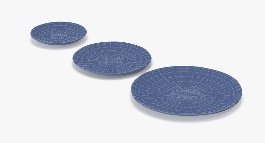 Serving Plates royalty-free 3d model - Preview no. 163