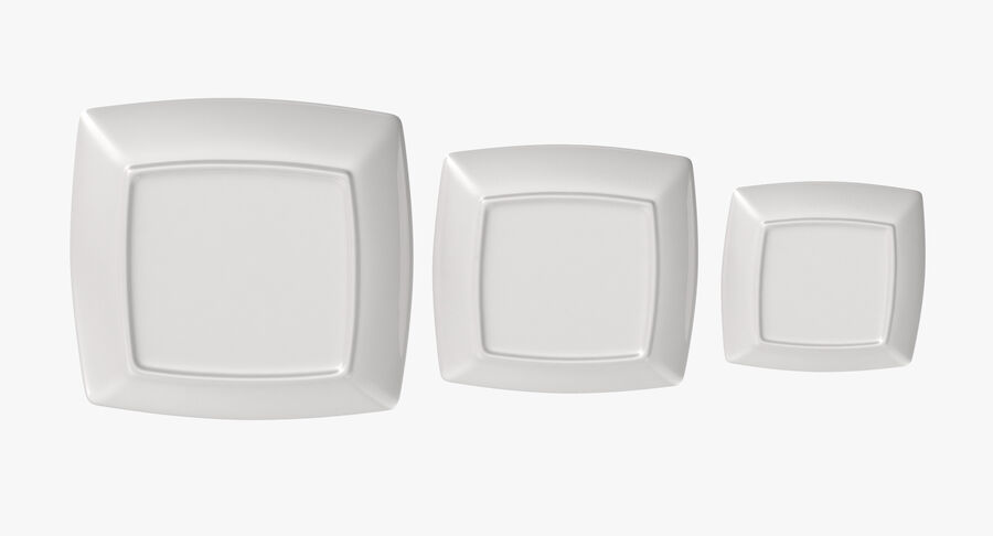 Serving Plates royalty-free 3d model - Preview no. 34