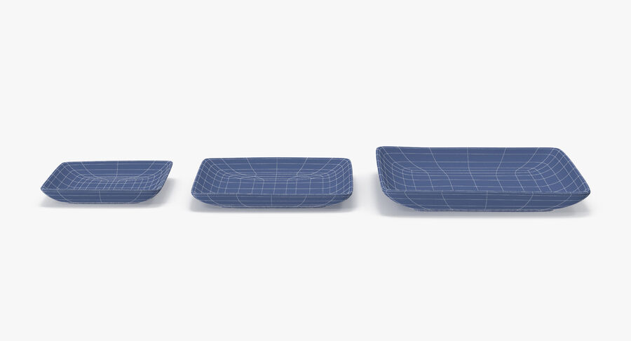 Serving Plates royalty-free 3d model - Preview no. 110