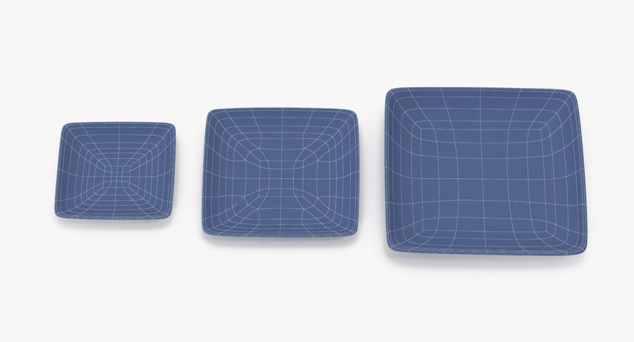 Serving Plates royalty-free 3d model - Preview no. 130