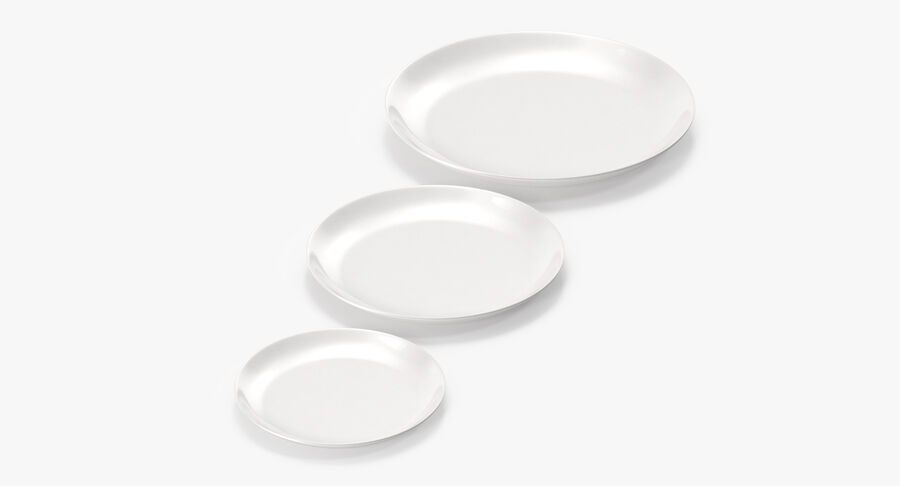 Serving Plates royalty-free 3d model - Preview no. 14