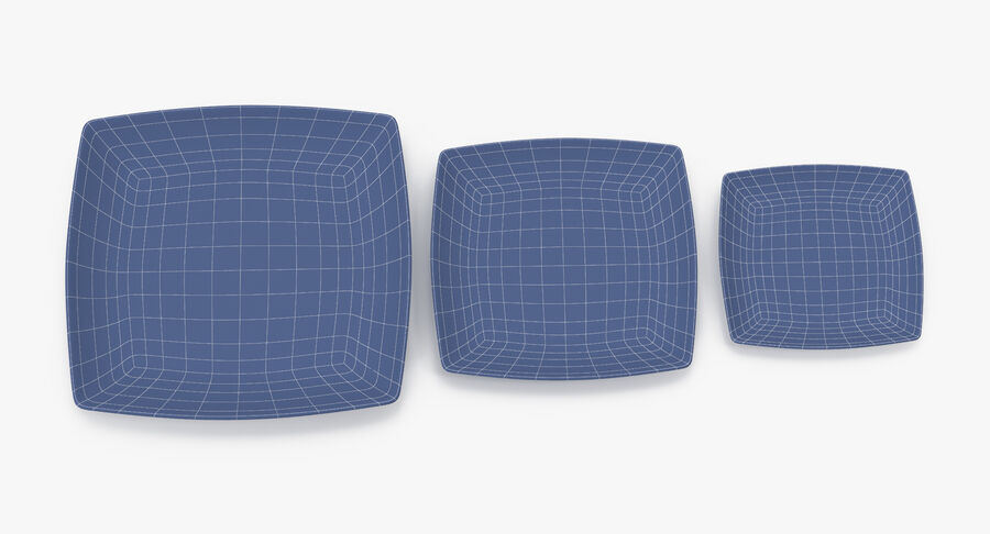 Serving Plates royalty-free 3d model - Preview no. 103