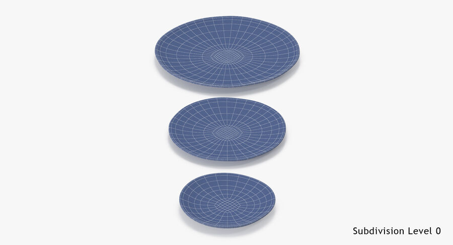 Serving Plates royalty-free 3d model - Preview no. 123