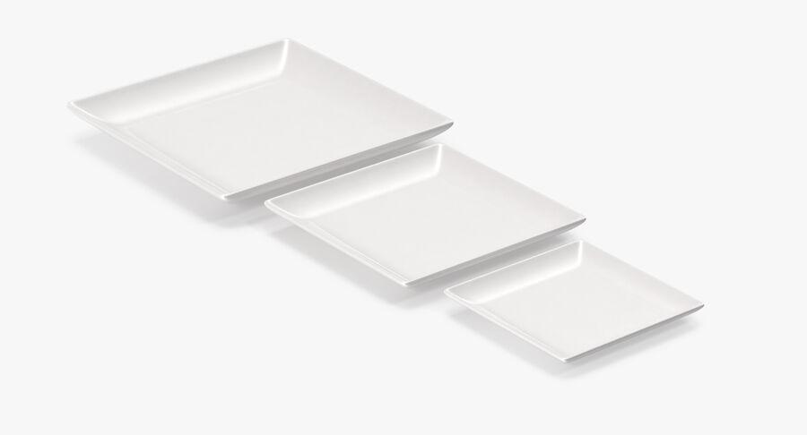 Serving Plates royalty-free 3d model - Preview no. 23