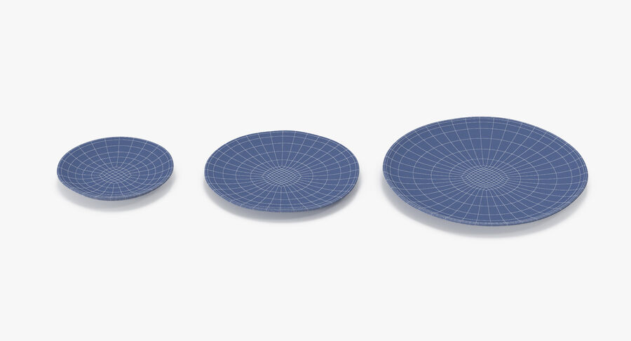 Serving Plates royalty-free 3d model - Preview no. 162