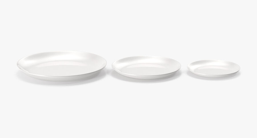 Serving Plates royalty-free 3d model - Preview no. 20