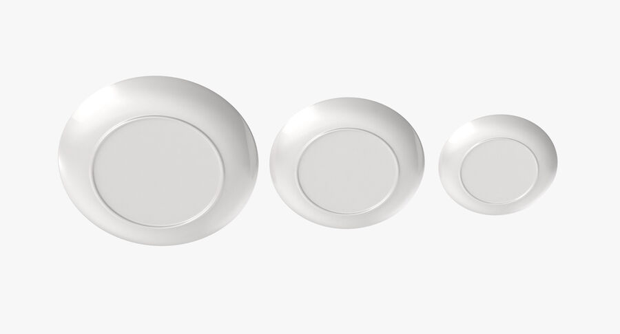 Serving Plates royalty-free 3d model - Preview no. 19