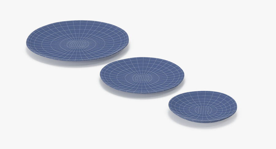 Serving Plates royalty-free 3d model - Preview no. 164