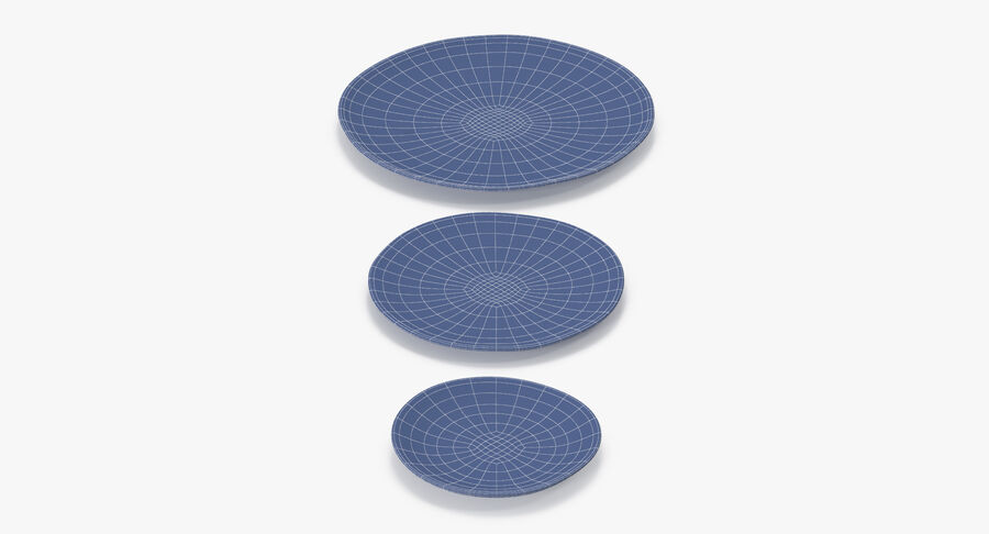 Serving Plates royalty-free 3d model - Preview no. 161