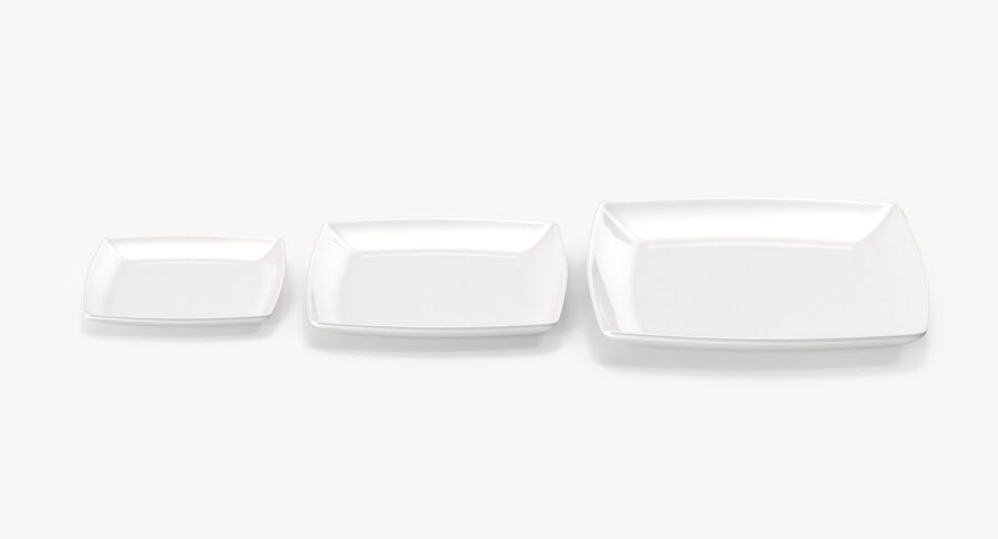 Serving Plates royalty-free 3d model - Preview no. 29