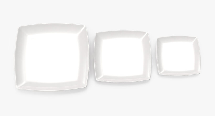 Serving Plates royalty-free 3d model - Preview no. 33