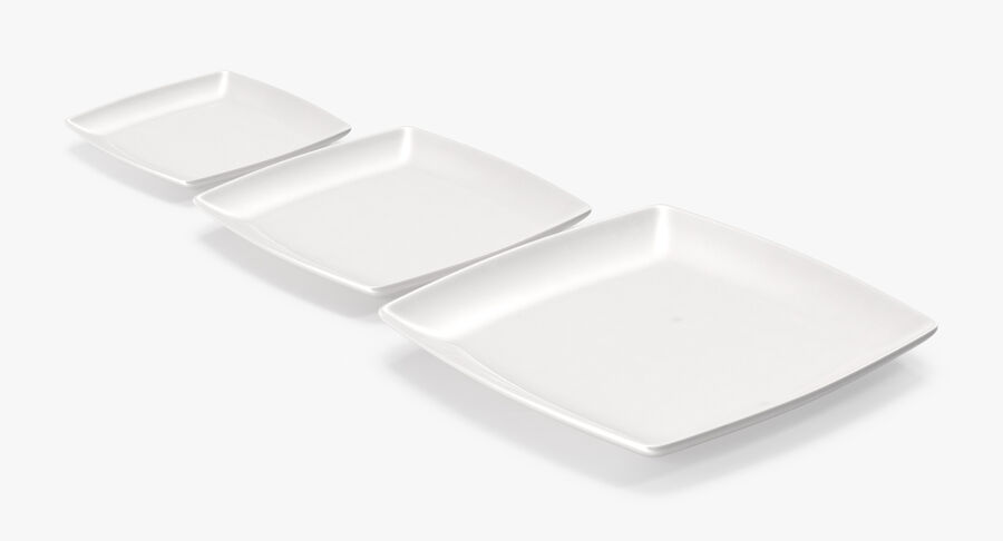 Serving Plates royalty-free 3d model - Preview no. 30