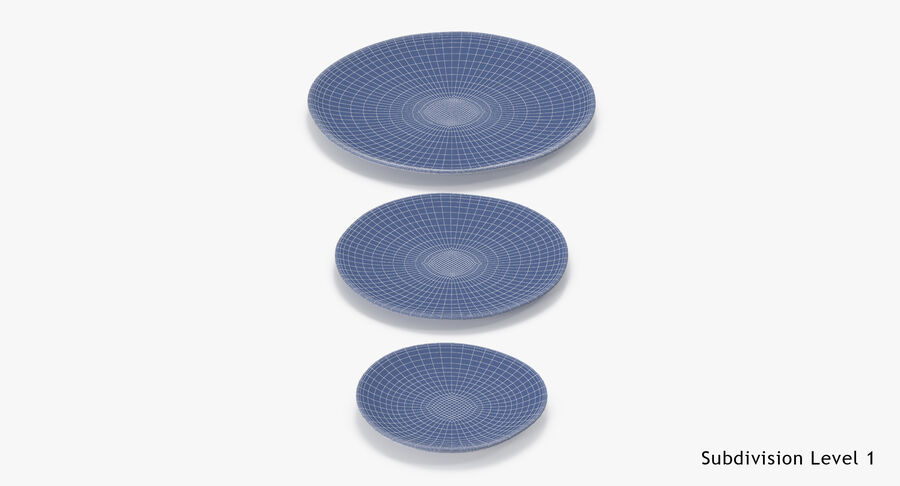 Serving Plates royalty-free 3d model - Preview no. 169