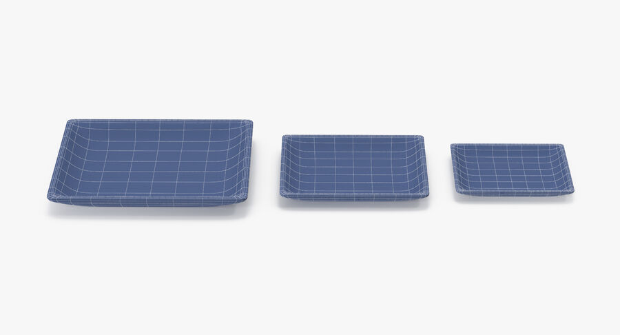 Serving Plates royalty-free 3d model - Preview no. 172