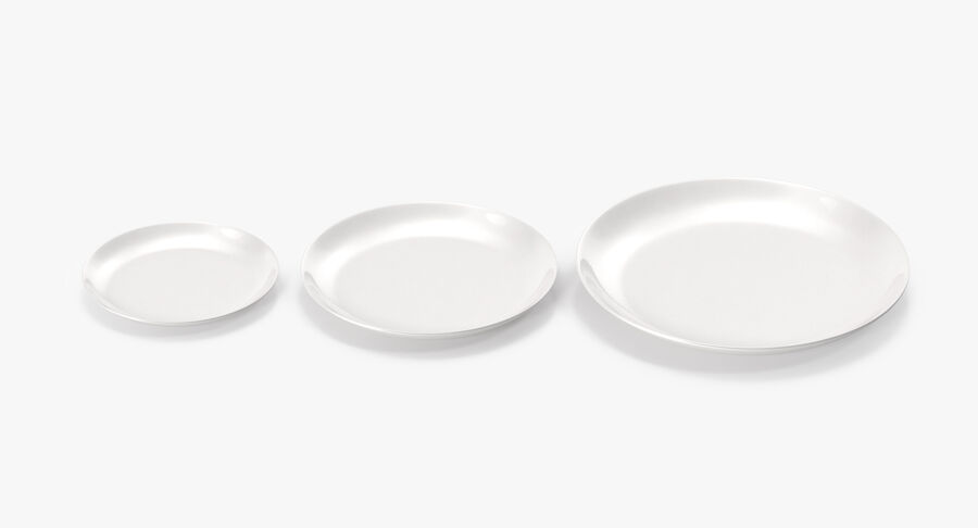 Serving Plates royalty-free 3d model - Preview no. 15