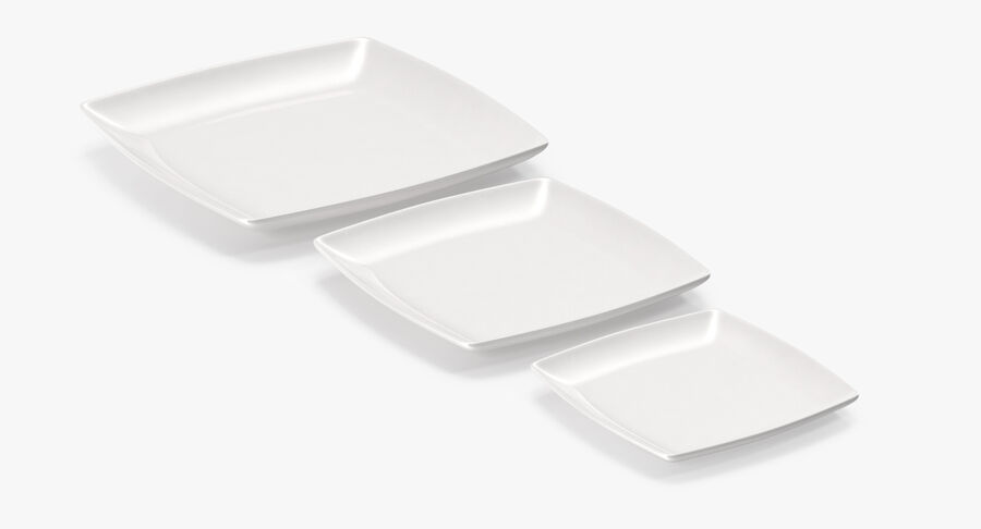 Serving Plates royalty-free 3d model - Preview no. 31