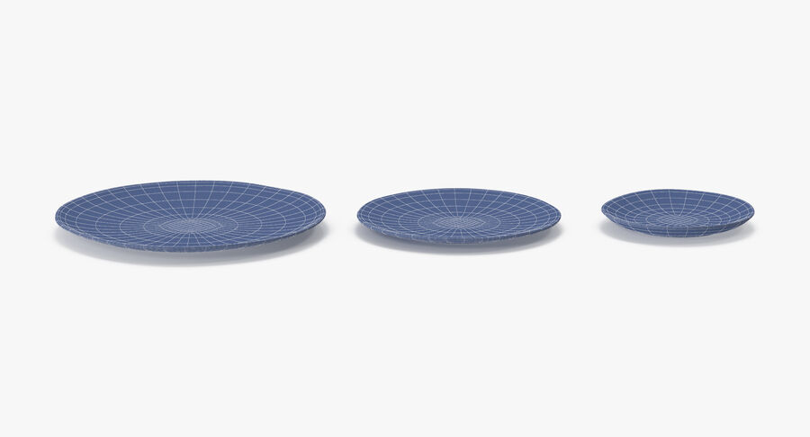 Serving Plates royalty-free 3d model - Preview no. 120