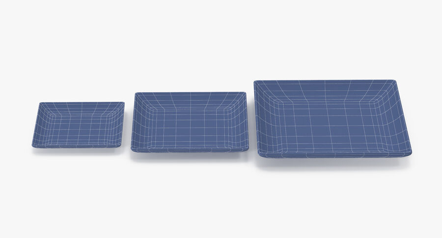 Serving Plates royalty-free 3d model - Preview no. 90