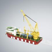 Kranfartyg för rörledning SK 3500 3d model