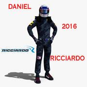 Daniel Ricciardo 2016 3d model