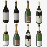 Champagne Bottles 3d model